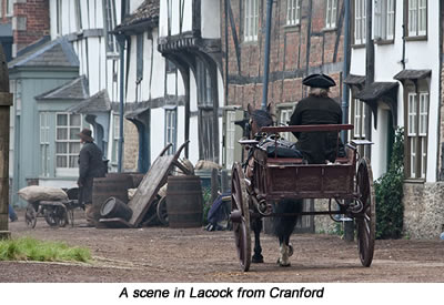 Cranford scene in Lacock - a short walk from Barn Cottages at Lacock, Holiday Cottages near Bath